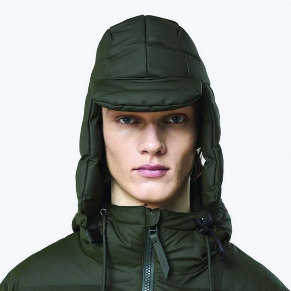 rains puffer hat green
